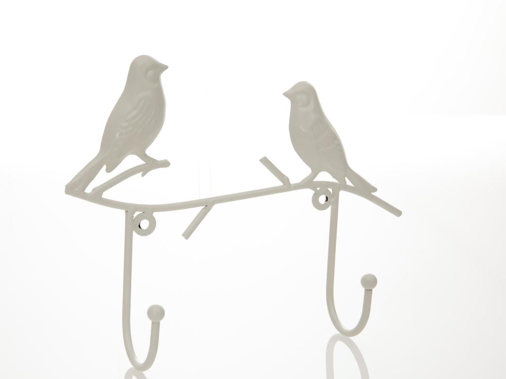 Birds Ferforje 2'li Askı 24x5,5x19 Cm Krem