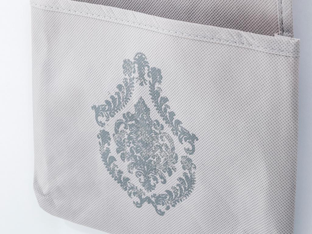 Damask Polyester 3 Katlı Organızer 20x70 Cm Taş Rengi