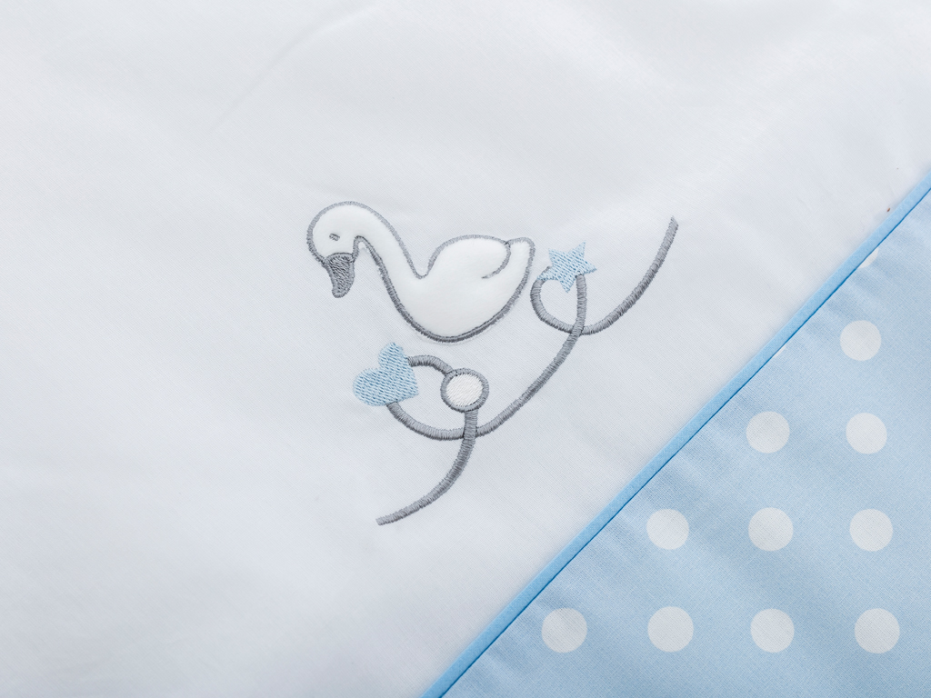 Swan Pamuklu Bebe Uyku Tulumu 6-12 Ay Mavi