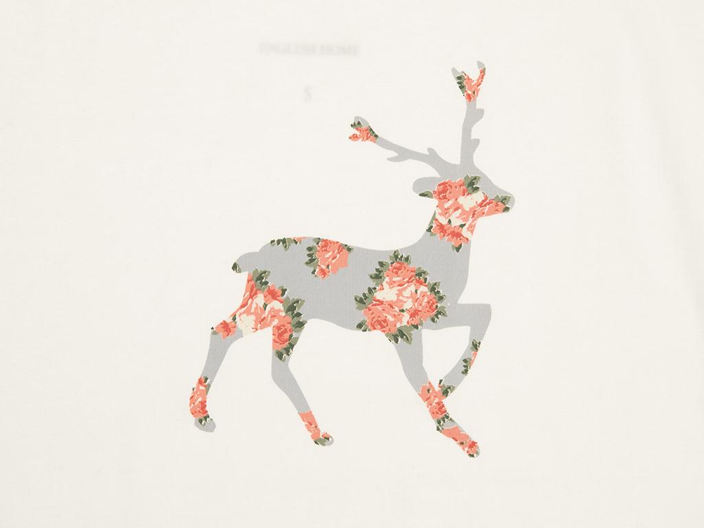 Deer Pamuklu Bayan İç Çamaşır Takımı S Ekru - Pembe