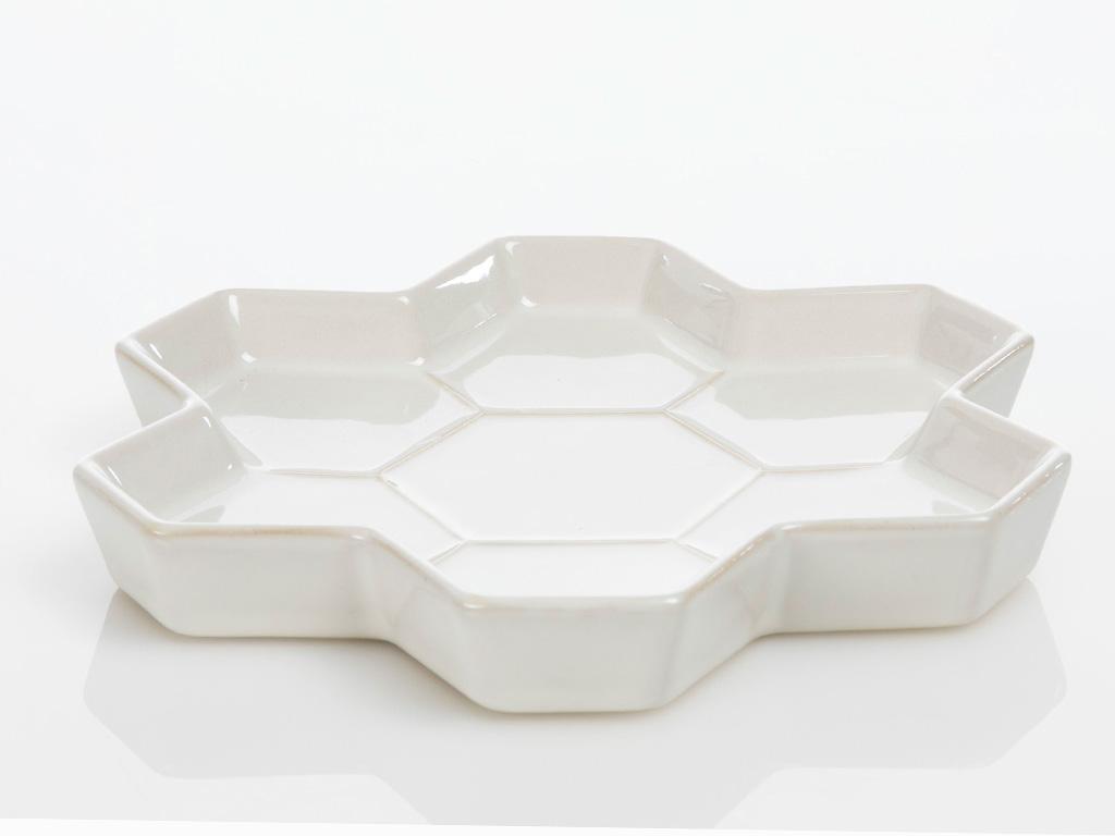 Golden Life Stoneware Servıs Tabağı 21x21x2cm Krem
