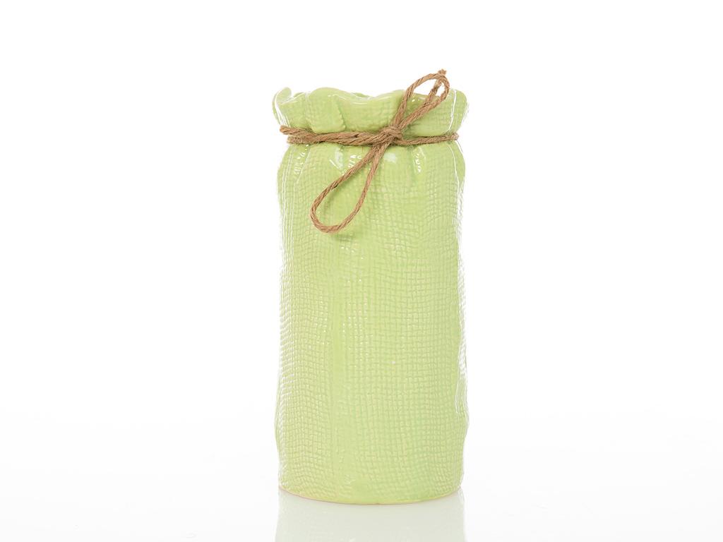 Cherish Vazo 10.8x10.8x22.2 Cm Yeşil