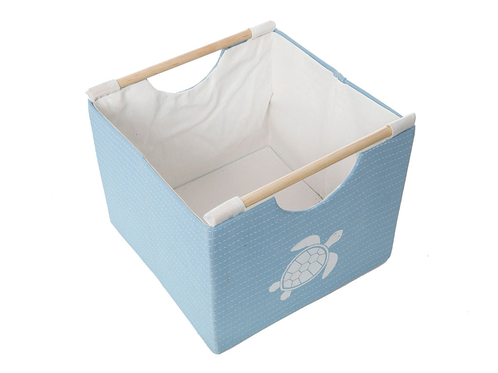 Caretta Polyester 27x27x24 Cm Mavi
