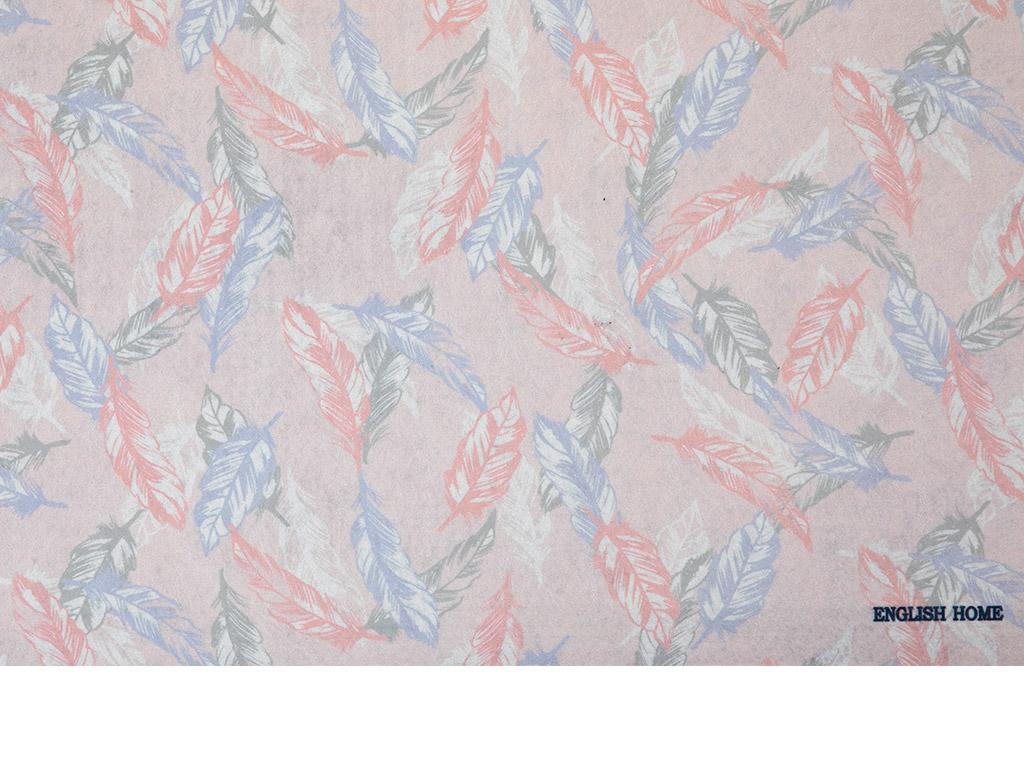 Feather Baskılı Çok Amaçlı Paspas 45x70 Cm Pembe