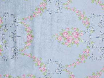 Blue Roses Dijital Baskı Baskılı Seccade 70x110 Cm Açık Mavi