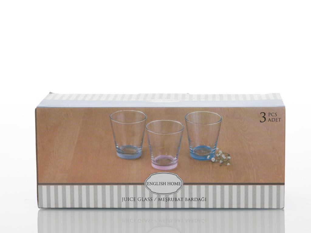 Olimpia Cam 3'lü Meşrubat Bardağı 200 Cc Renkli