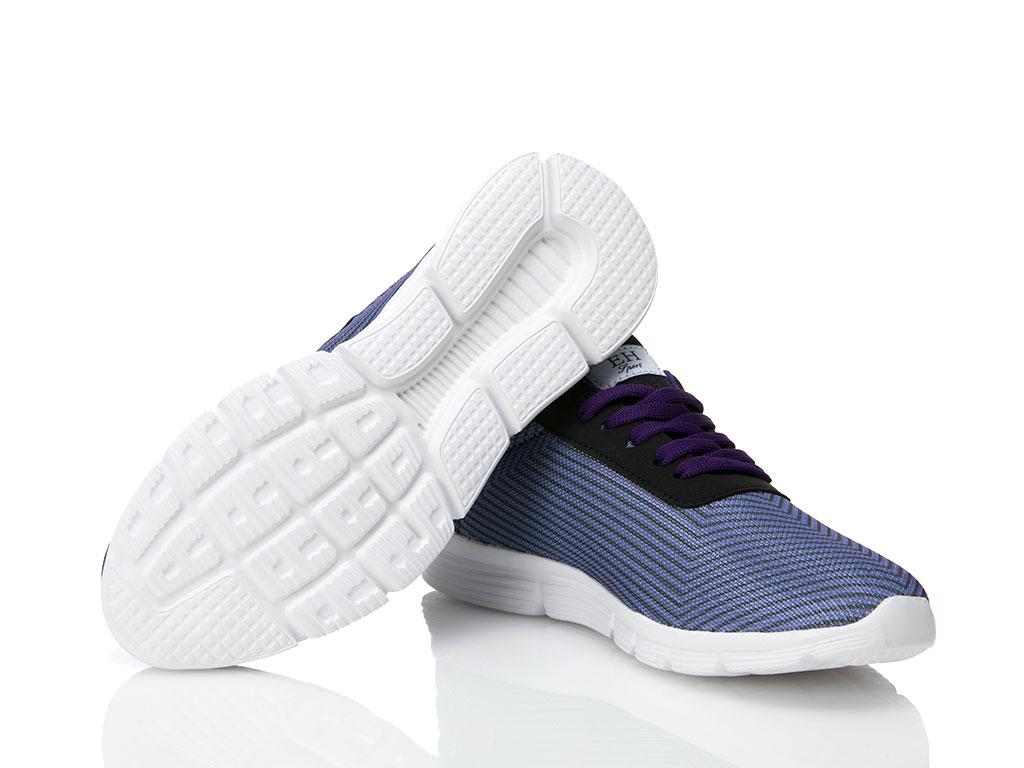 Ground Baskılı Bayan Spor Ayakkabısı 37 Mor