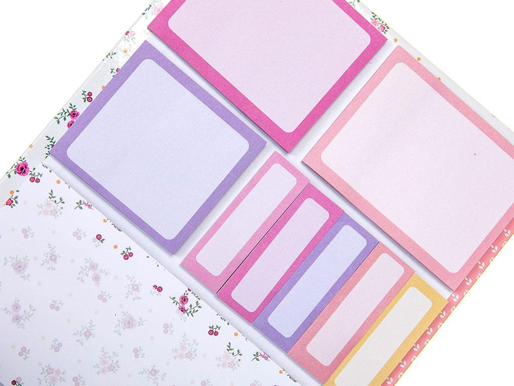Rosey Yapışkanlı Not Defterı 16x20 Cm Renkli