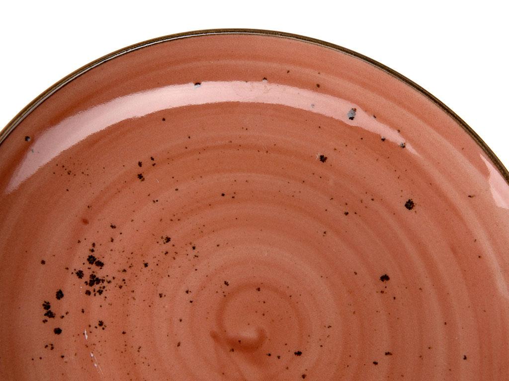 Oslo Porselen Tekli Servis Tabağı 24 Cm Koyu Pembe