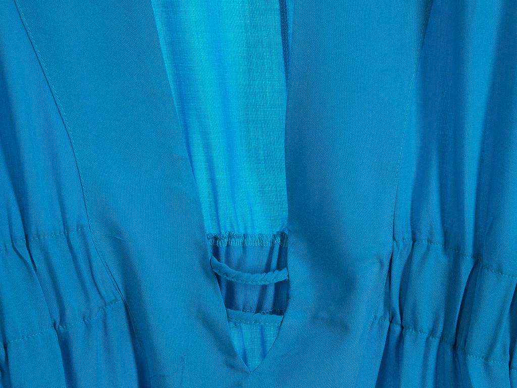 Ocean Viskon Bayan Plaj Elbısesı Standart Mavi