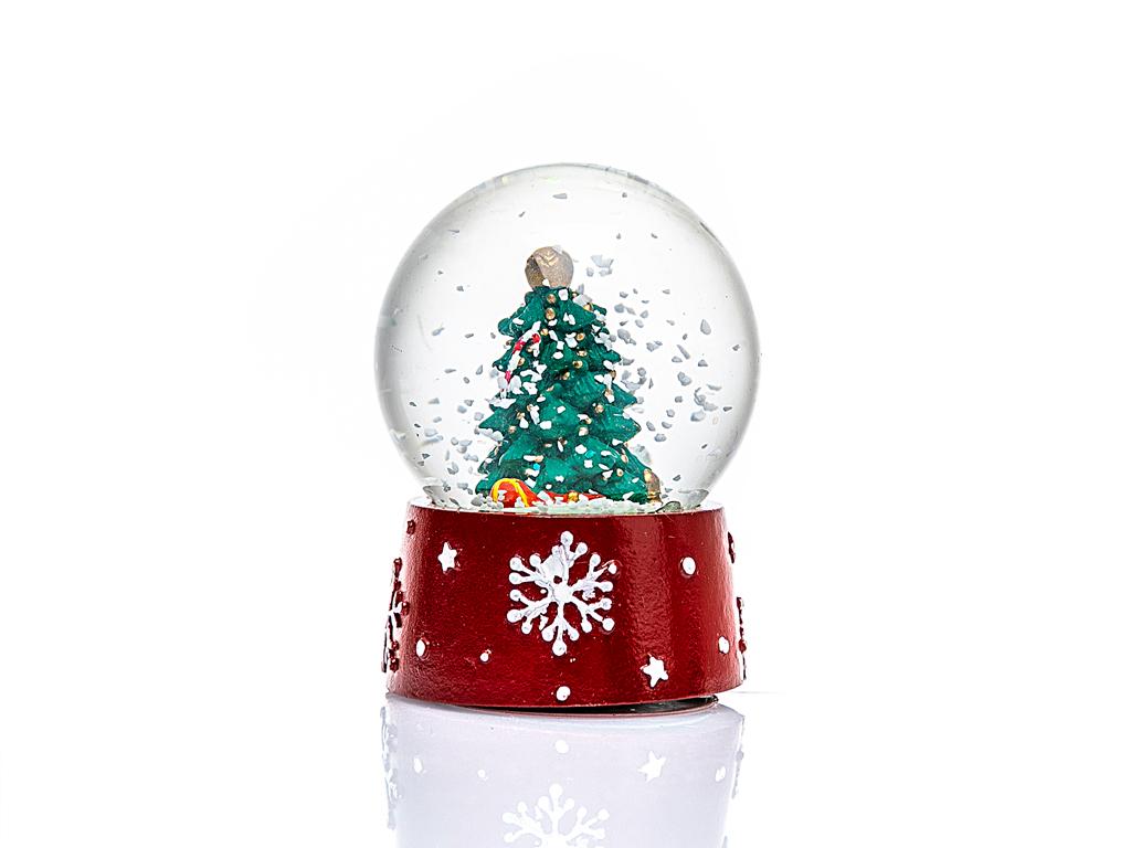 New Year Kar Küresı 4,5x4,5x6 Cm Kırmızı