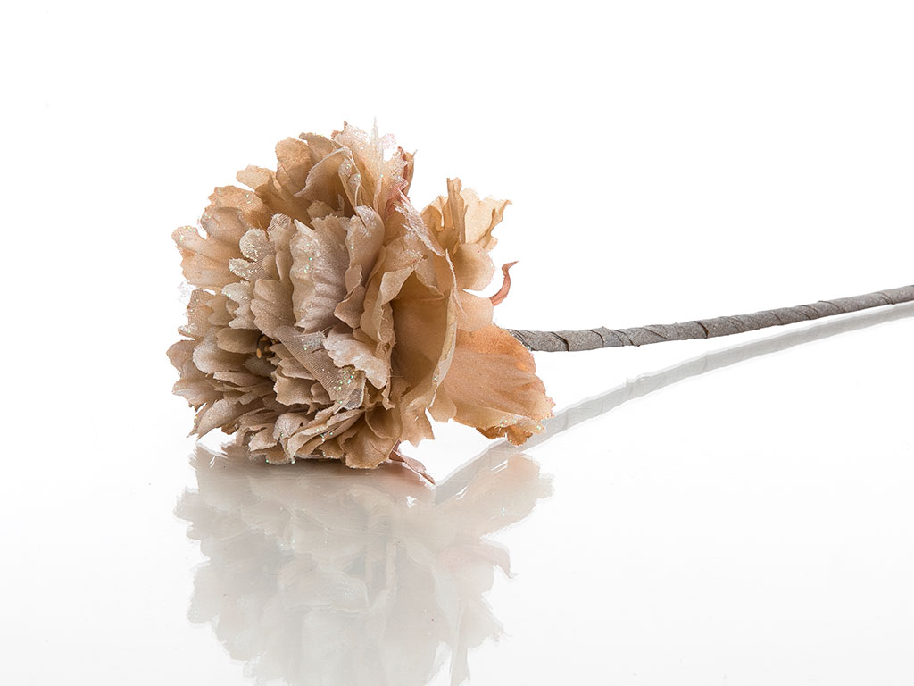 Flora Polyester Yapay Çiçek 65 Cm Kahve