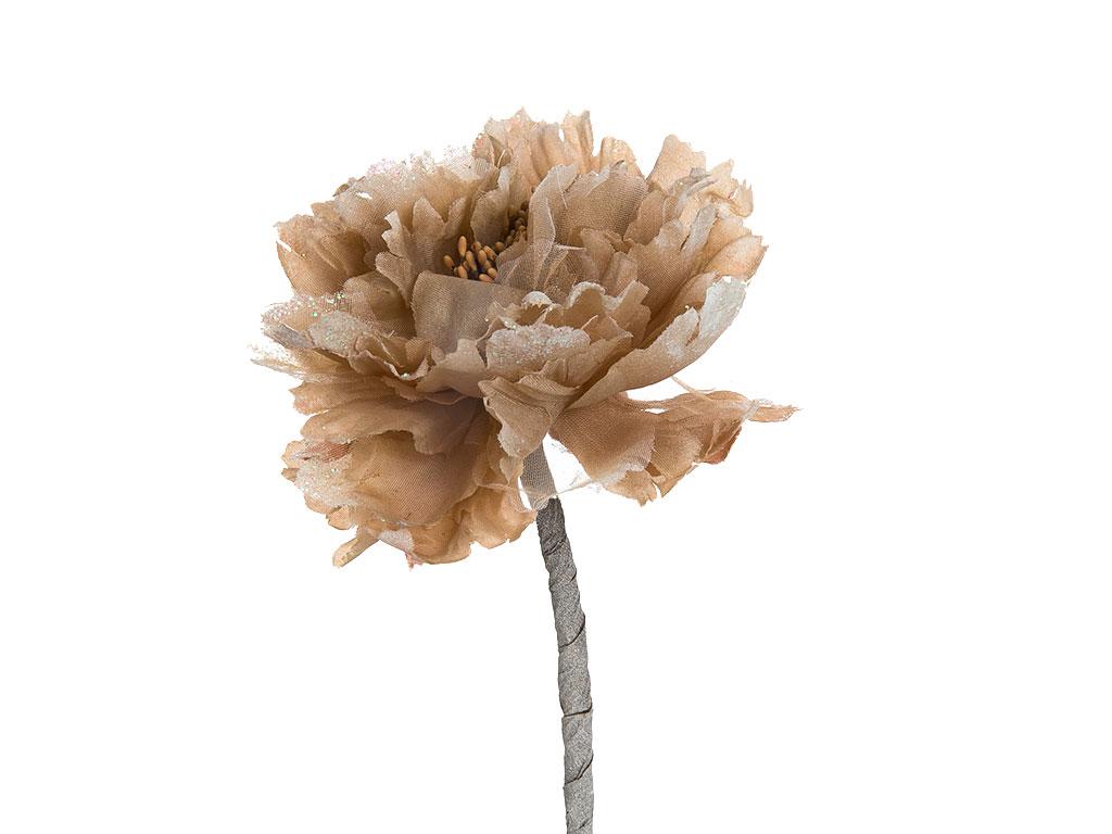 Flora Polyester Yapay Çıçek 65 Cm Kahve