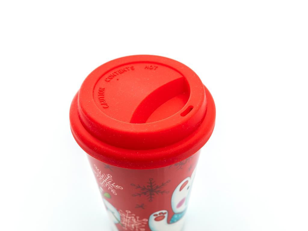 Bear Bone China Travel Mug 400 Ml Kırmızı