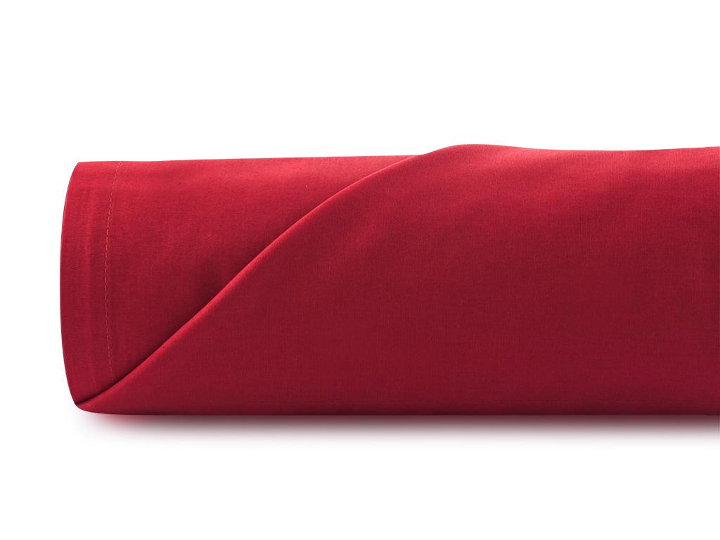 Düz Pamuklu Çift Kişilik Çarşaf 240x260 Cm Kırmızı