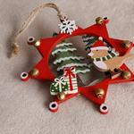 Jingle Ahşap Askılı Aksesuar 12,5x12,5 Cm Renkli