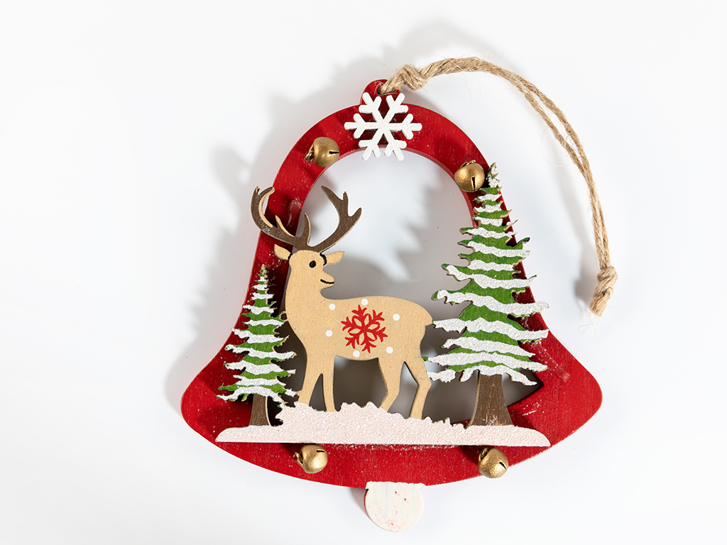 Deer Ahşap Askılı Aksesuar 11,7x12,5 Cm Renkli