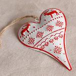 Heart Metal Askılı Aksesuar 20,5x11,3 Cm Kırmızı