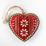 Heart Metal Askılı Aksesuar 7,5x10 Cm Renkli