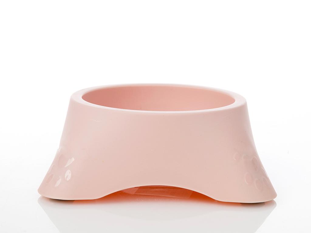 Bowl Plastik Mama Kabı 20x20x7,5 Cm Açık Pembe