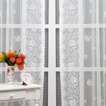 Fancy Roses Örme Tül Perde 140x265 Cm Açık Krem