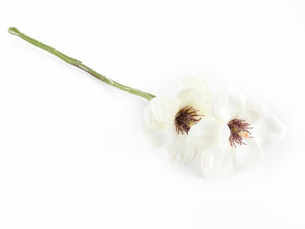 Magnolia Yapay Çiçek 41 Cm Beyaz