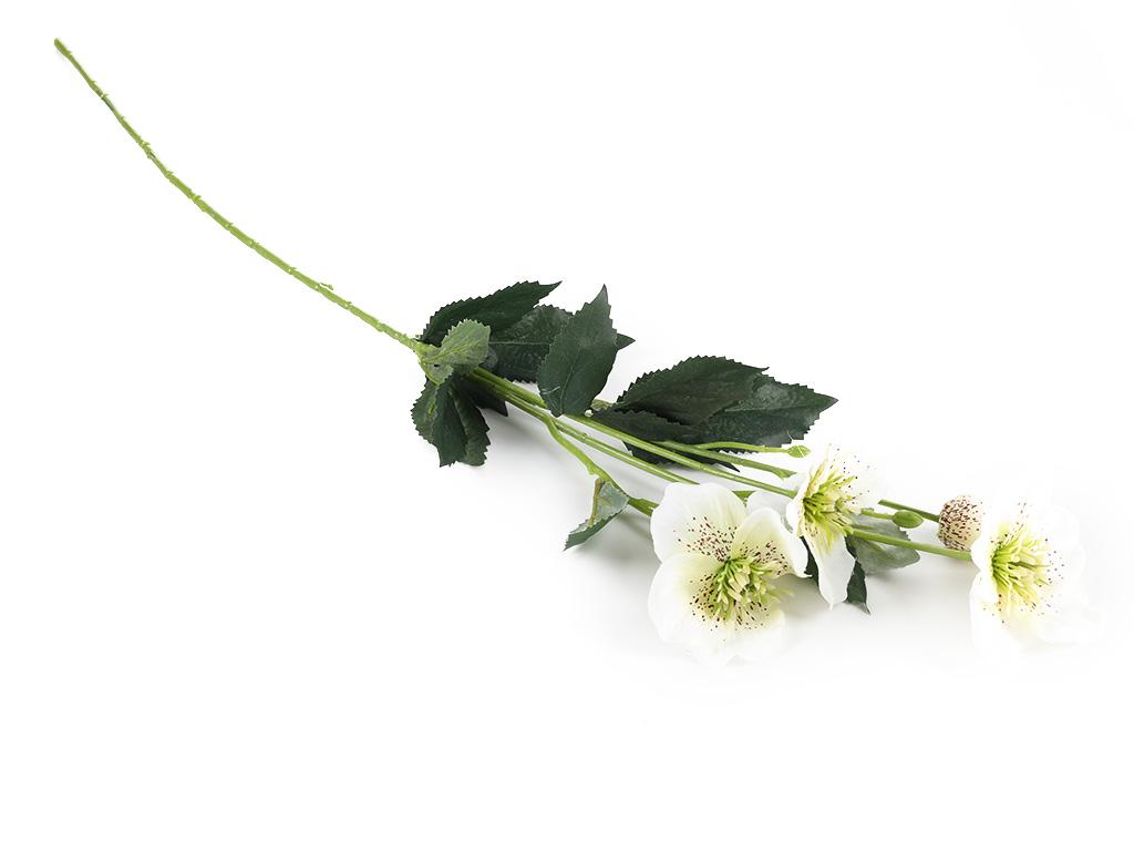 Rose Spray Yapay Çiçek 72 Cm Beyaz