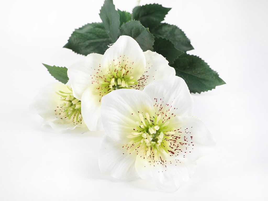 Rose Spray Yapay Çıçek 72 Cm Beyaz