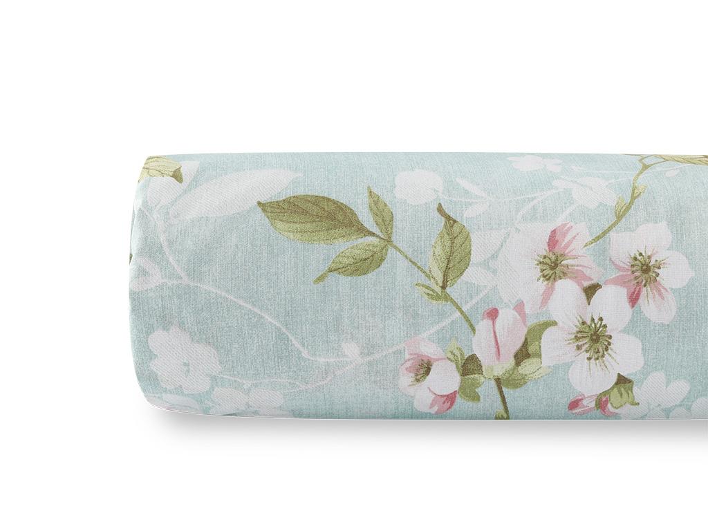 Sakura Zen Pamuklu Çift Kişilik Nevresım 200x220 Cm Seledon