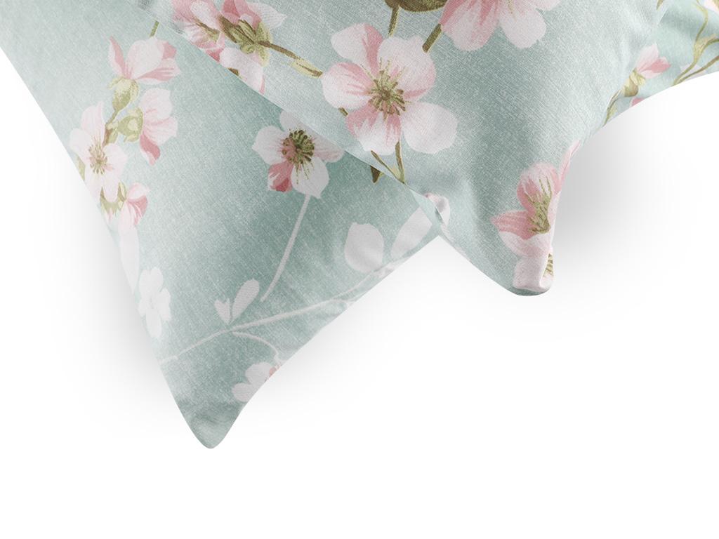 Sakura Zen Pamuklu 2'li Yastık Kılıfı 50x70 Cm Seledon