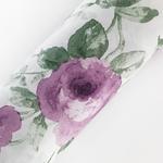Rose Ivory Pamuklu Çift Kişilik Nevresim 200x220 Cm Mürdüm