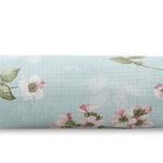 Sakura Zen Baskılı Çift Kişilik Pıke 200x220 Cm Yeşil