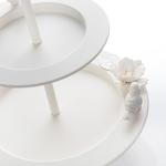 Glam Ferforje Katlı Servıs 21,5x21,5x32 Cm Beyaz