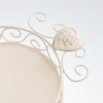 Rona Ferforje Küçük Tepsı 22x15x5 Cm Beyaz