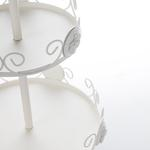 Adela Ferforje Katlı Servıs 19,5x19,5x34 Cm Beyaz