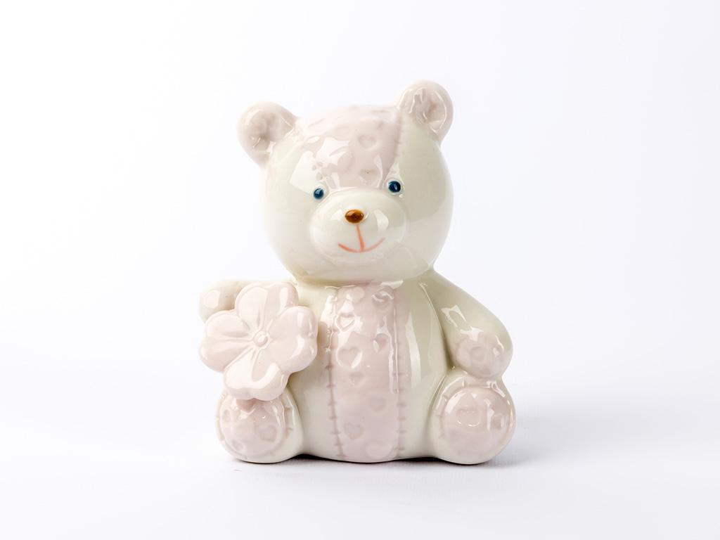 Teddy Porselen Bıblo 7x5,5x9,3 Cm Pembe