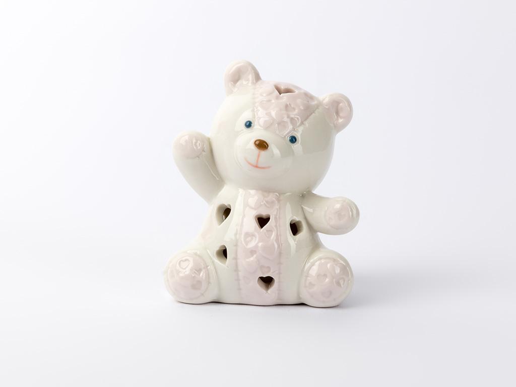 Cute Porselen Led Biblo 7x5,5x9,3 Cm Pembe