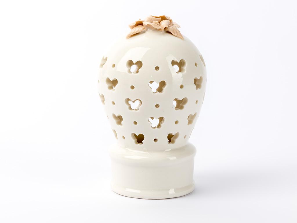 Balloon Porselen Led Bıblo 6,8x6,8x11,4 Cm Beyaz