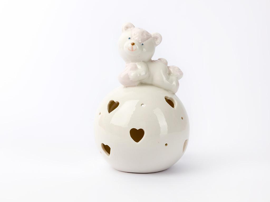 Cute Porselen Led Bıblo 8,7x8,7x13,4 Cm Pembe