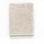 Zen Nakışlı El Havlusu 30x45 Cm Açık Bej