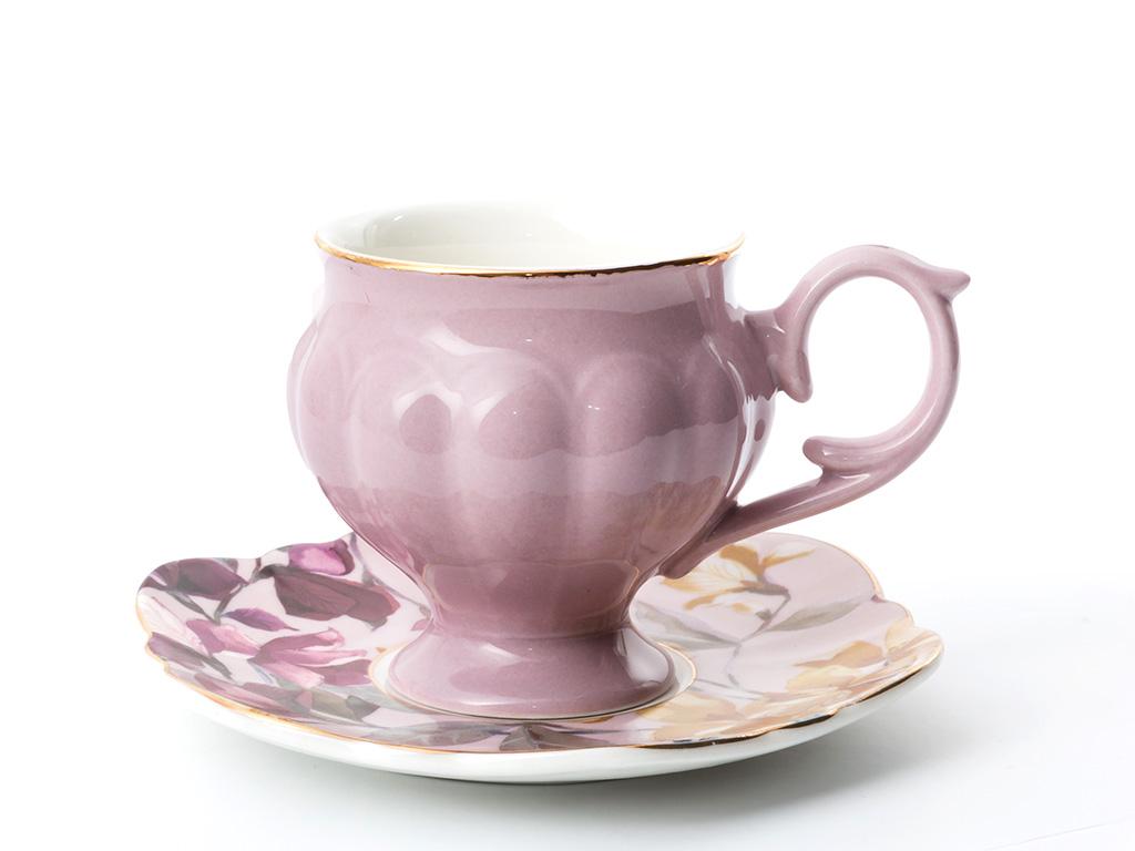 Vanessa Bone China 6'lı Kahve Fıncan Takımı 90 Ml Lila