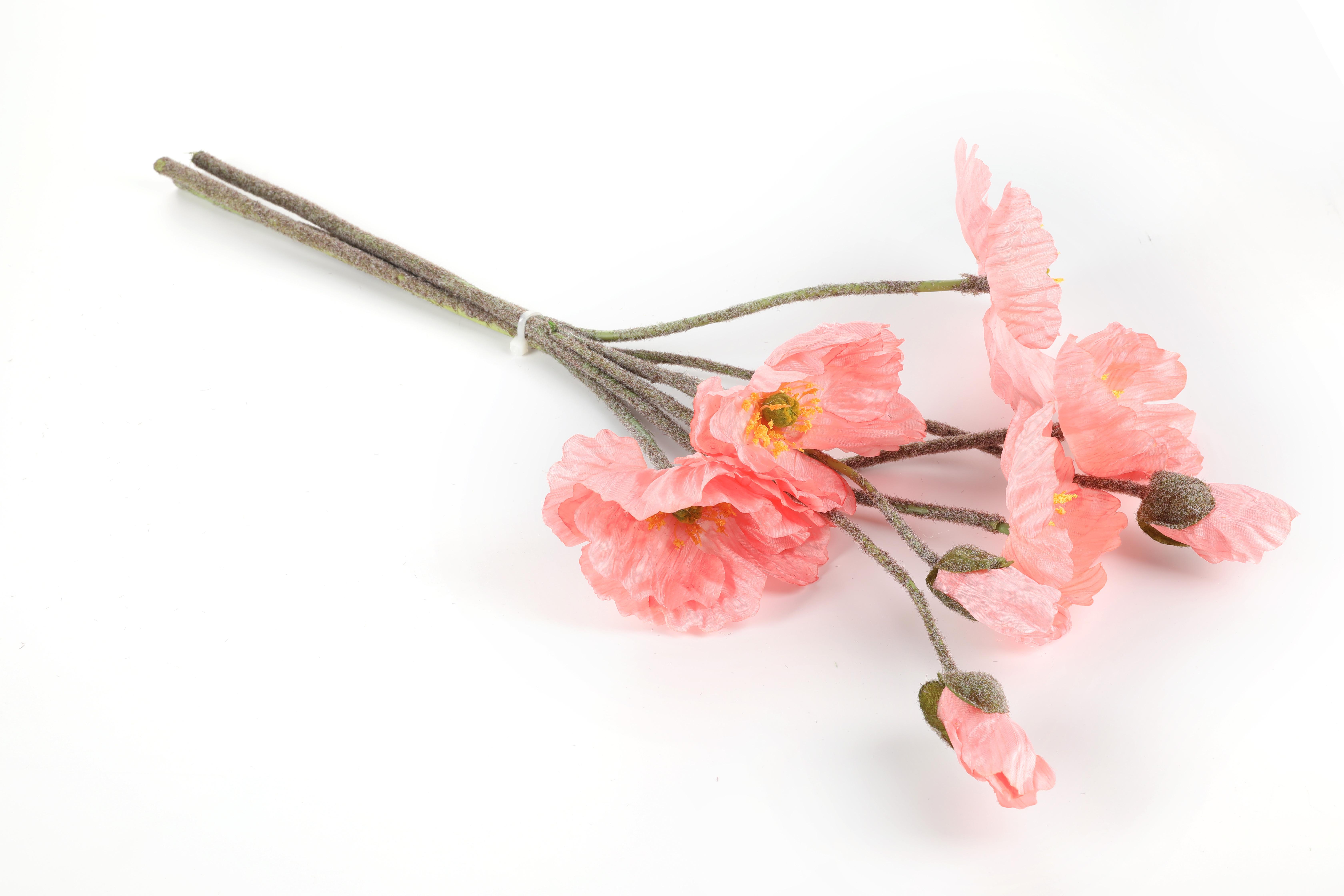 Poppy Yapay Çiçek 53 Cm Pembe