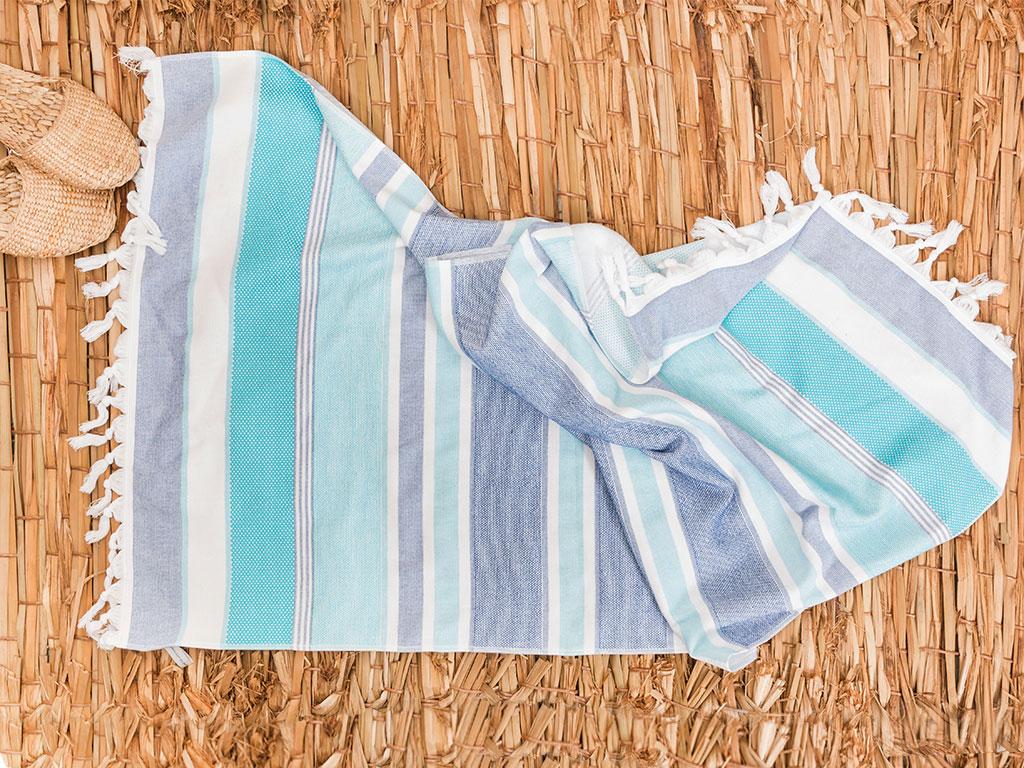 Sea Dreams Plaj Havlusu 75x150 Cm Turkuaz - Royal