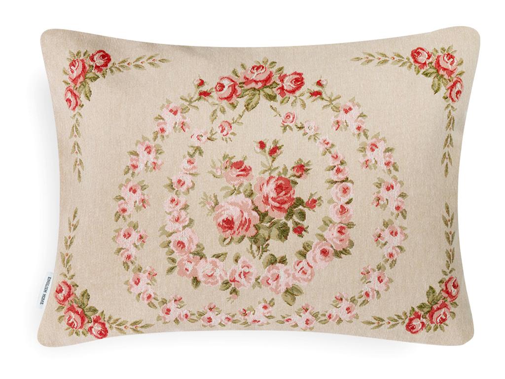 Rosella Goblen Kırlent Yastık 35x50 Cm Pembe