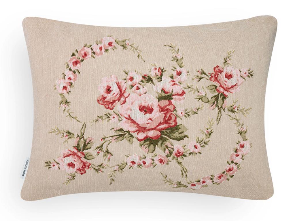 Rose Coquette Goblen Kırlent Yastık 35x50 Cm Pembe