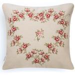 Rose Heart Goblen Kırlent Yastık 45x45 Cm Kırmızı