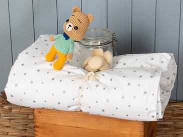 Astro Pamuklu Bebe Nevresim 100x150 Cm Beyaz