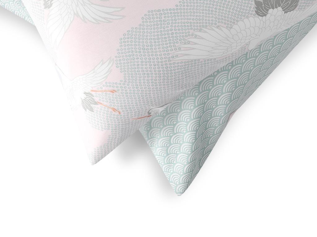 Heron Flies Pamuklu 2'li Yastık Kılıfı 50x70 Cm Pembe