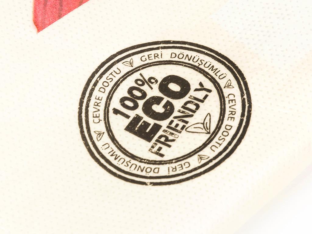 Cheering Rose Lamineli Nonwoven Alışverış Çantası 39x35x12 Cm Renkli
