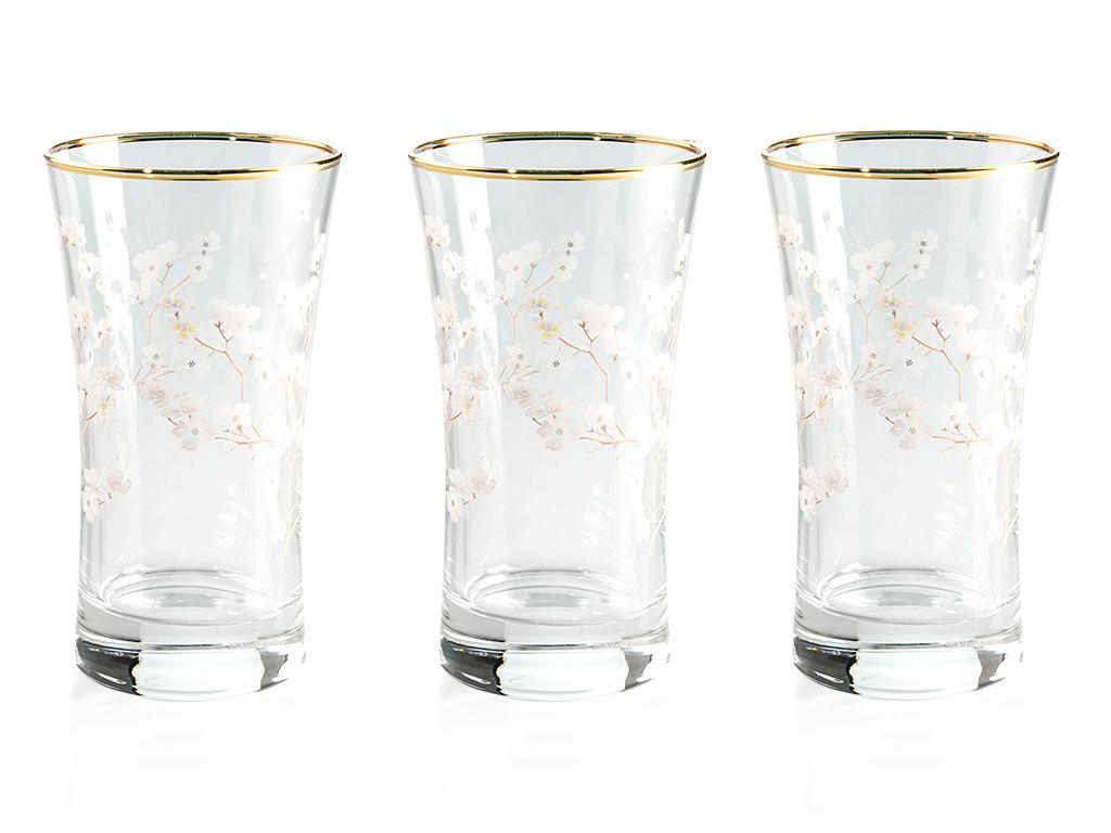 Sakura Cam 3'lü Meşrubat Bardağı 300 Ml Şeffaf
